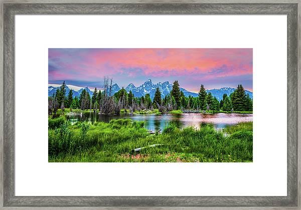 Grand Sunset Framed Print