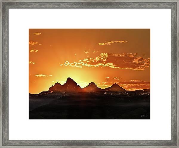 Grand Teton Sunrise Framed Print