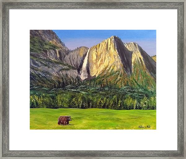 Framed Print featuring the painting Grandeur And Extinction by Kevin Daly
