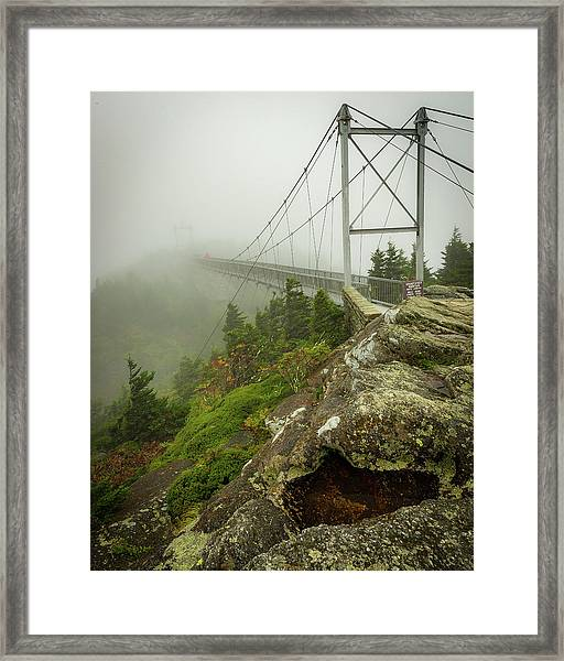Grandfather Mountain Swinging Bridge Framed Print