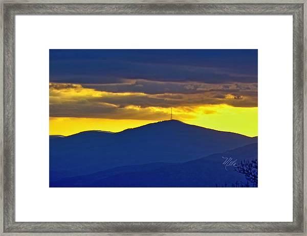 Grandmother Mountain Sunset Framed Print