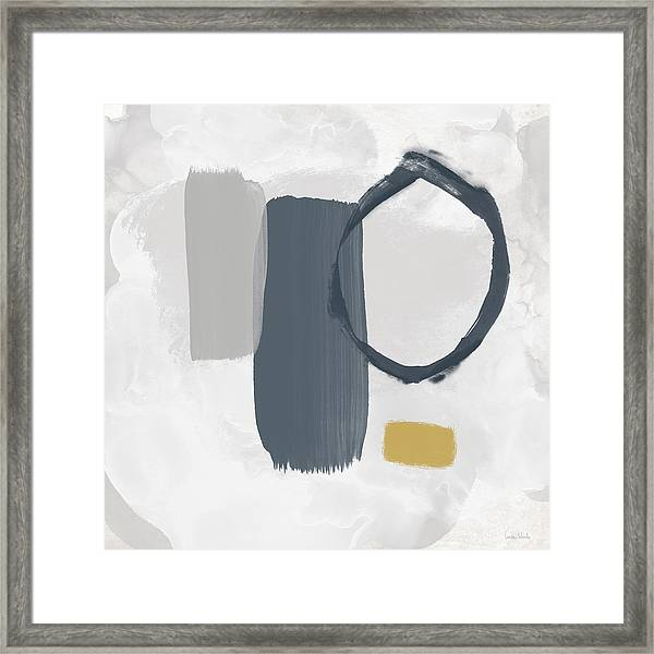 Grayscale 2- Abstract Art By Linda Woods Framed Print