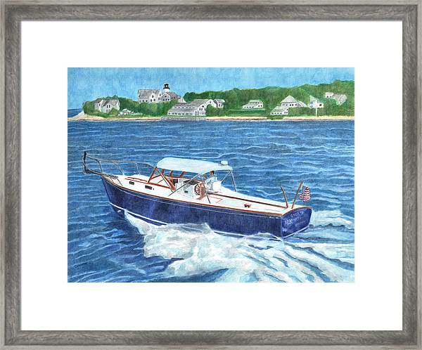 Framed Print featuring the painting Great Ackpectations Nantucket by Dominic White