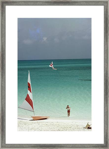 Great Harbour Cay Framed Print by Slim Aarons