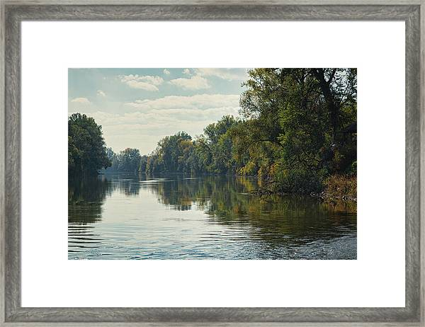 Framed Print featuring the photograph Great Morava River by Milan Ljubisavljevic