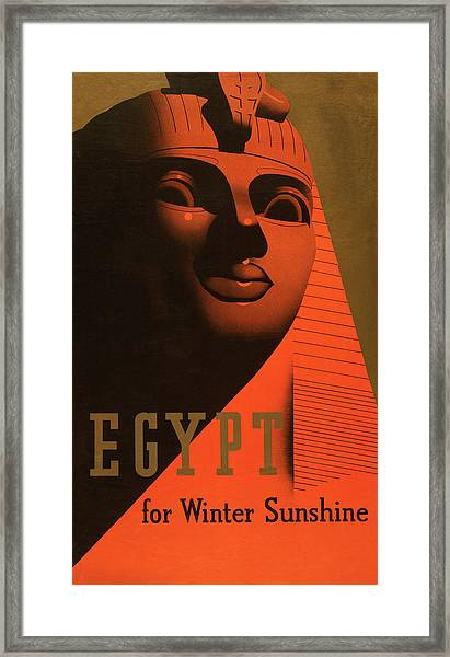 Great Sphinx Travel Poster Framed Print