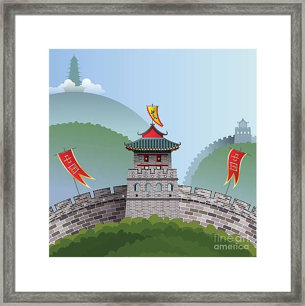 Great Wall Of China Framed Print by Nikola Knezevic
