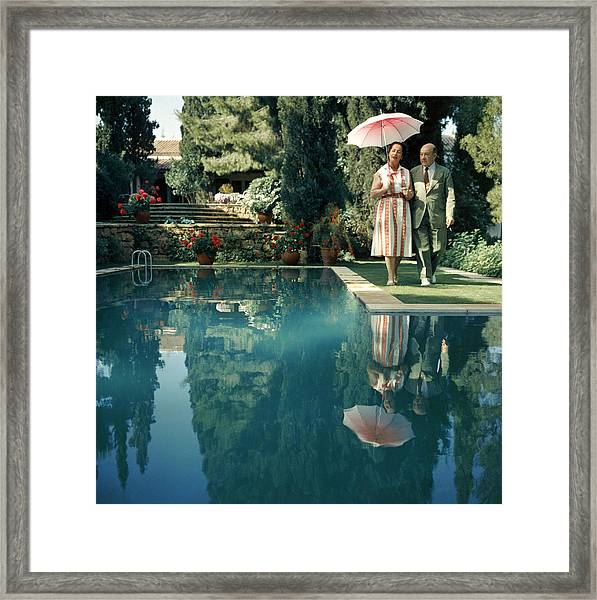Greek Garden Framed Print