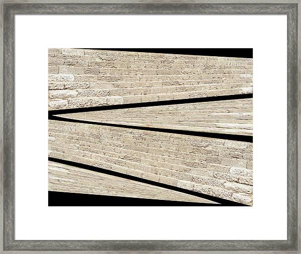 Greek Layers Framed Print
