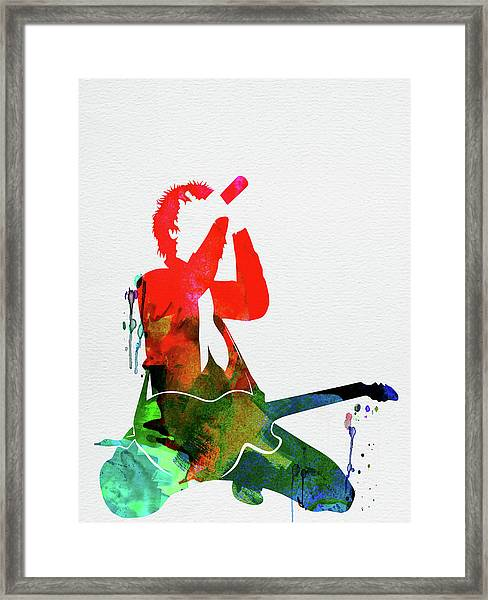 Green Day Watercolor Framed Print