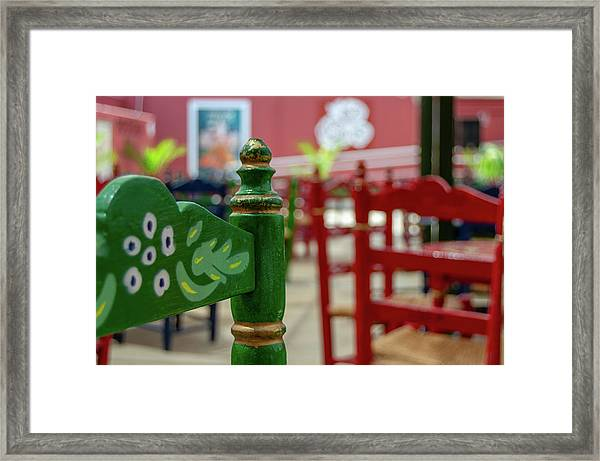 Green Fair Chair Framed Print
