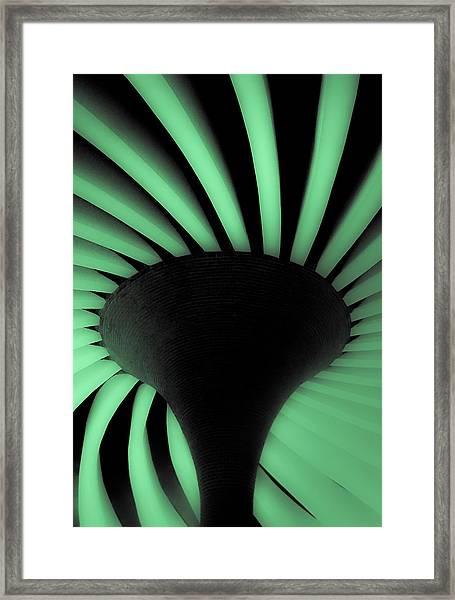 Green Fan Ceiling Framed Print