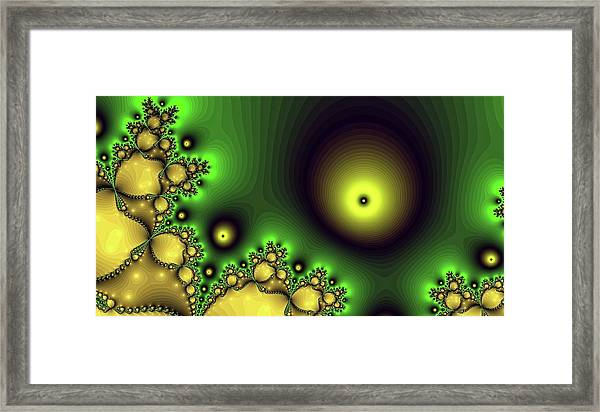 Green Glowing Bliss Abstract Framed Print