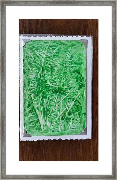 Green Jungle Framed Print