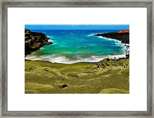 Green Sand Beach Framed Print