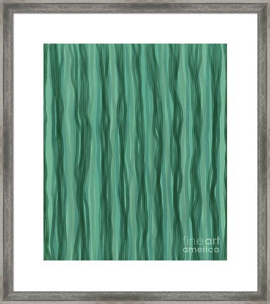 Green Stripes Framed Print