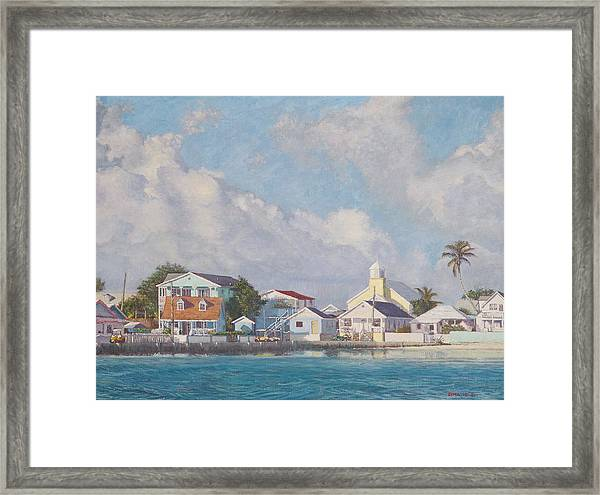 Green Turtle Cay Water Front Framed Print