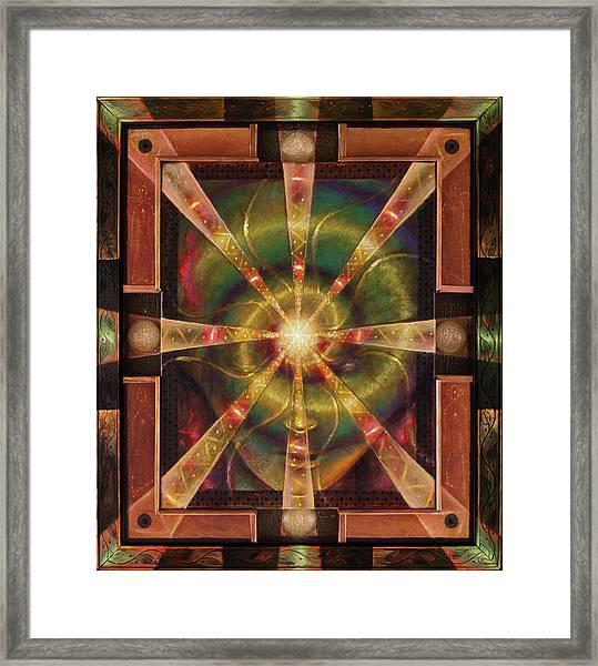 Green Woman Awakens Framed Print