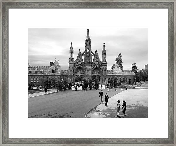Green-wood Framed Print