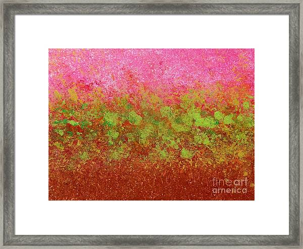 Greenery With Pink - Art By Cori Framed Print