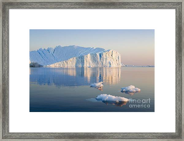 Greenland. The Biggest Glacier On A Framed Print