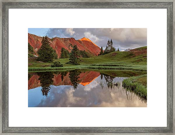 Grey Copper Gulch Framed Print