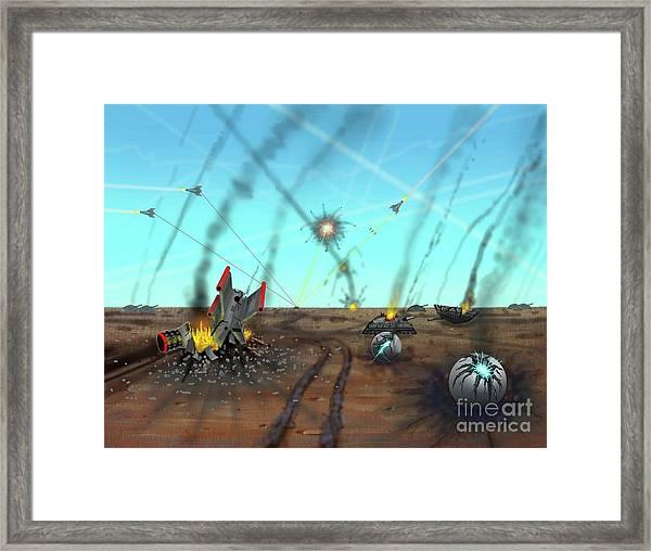 Ground Battle Framed Print