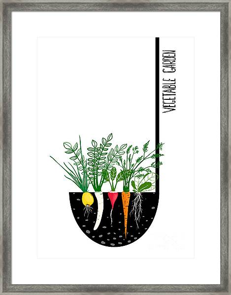 Grow Vegetable Garden And Cook Soup Framed Print