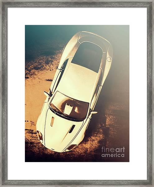 Grunge Garage Framed Print