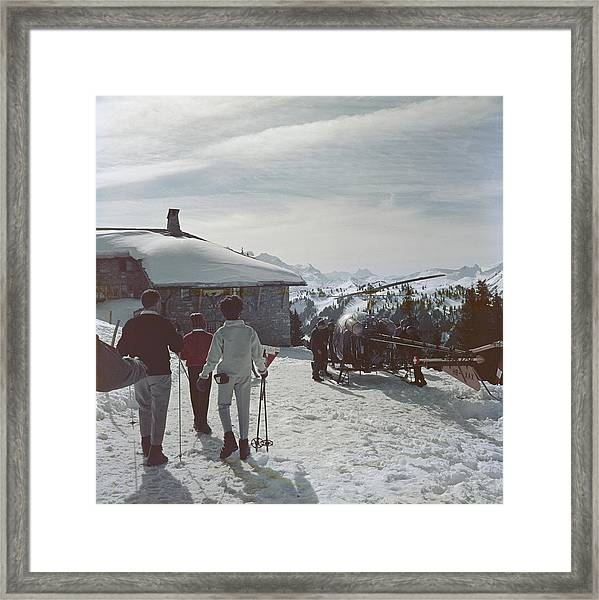 Gstaad Framed Print by Slim Aarons