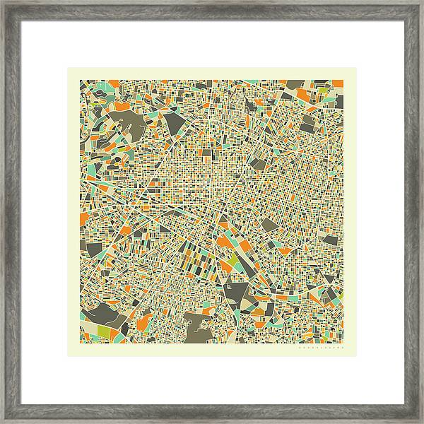 Guadalajara Map 1 Framed Print