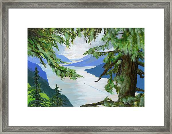 Guided Through The Fjords Framed Print