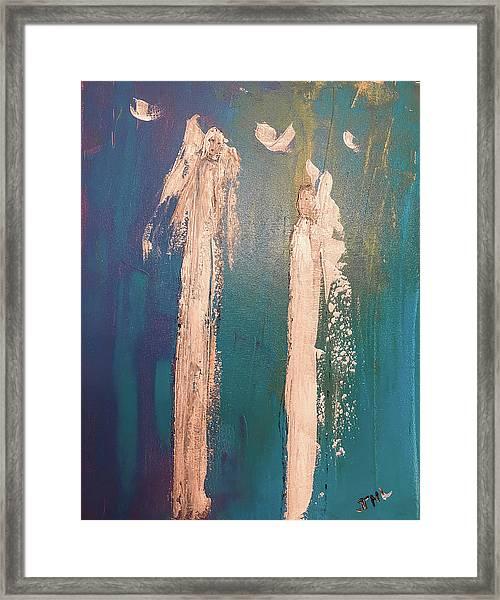 Guiding Angels...he Has Risen Framed Print