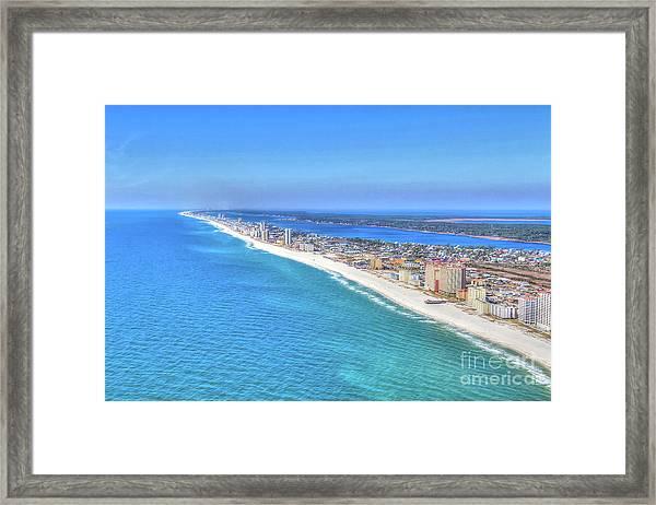 Gulf Shores Beaches 1335 Tonemapped Framed Print