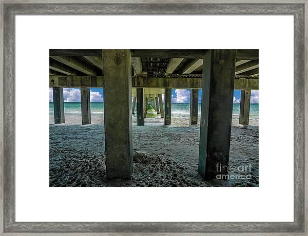Gulf Shores Park And Pier Al 1649b Framed Print