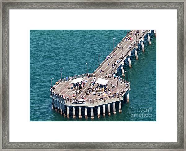 Gulf State Park Pier 7467 Framed Print