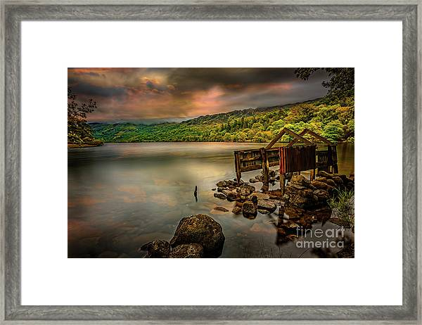 Gwynant Lake Old Boat House Framed Print