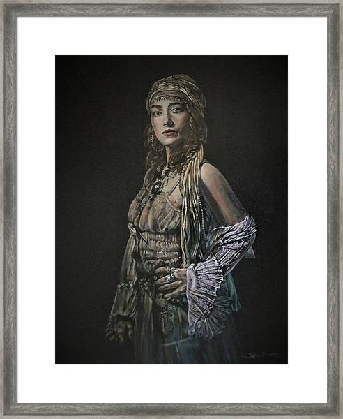 Gypsy Portrait Framed Print