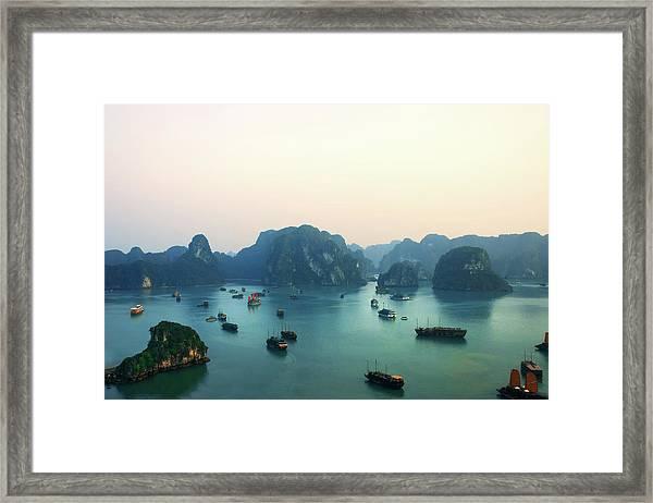 Ha Long Bay Framed Print by Samantha T. Photography