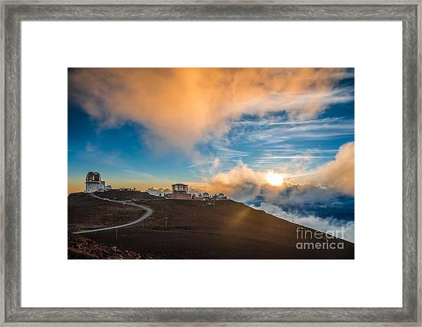 Haleakala Crater At Sunset, At Framed Print
