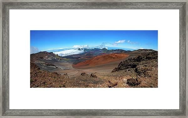 Haleakala Crater Panoramic Framed Print
