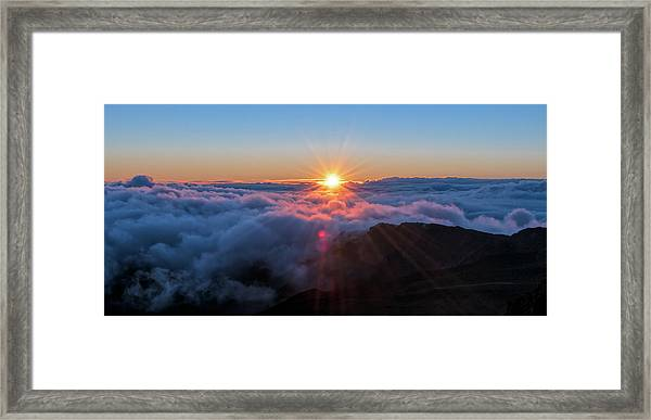 Haleakala First Light  Framed Print