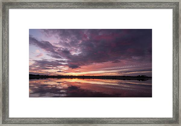 Halifax River Sunset Framed Print