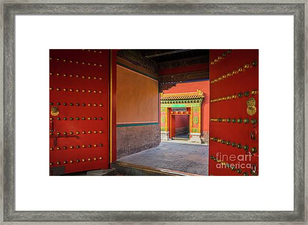 Hall Of Earthly Tranquility Framed Print