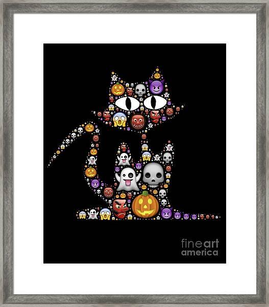 Halloween Cat Framed Print
