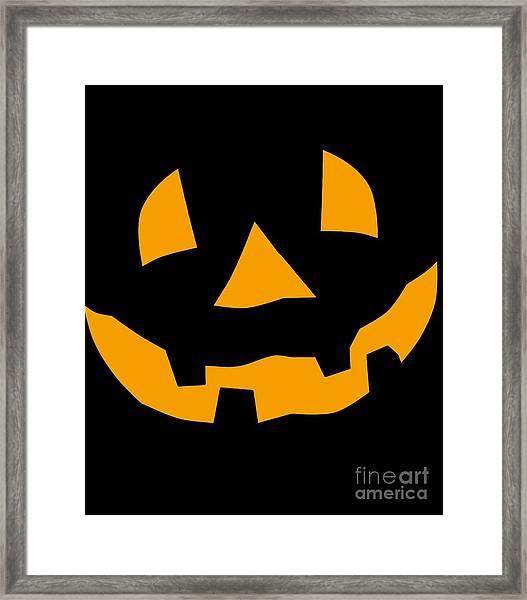 Halloween Pumpkin Tee Shirt Framed Print