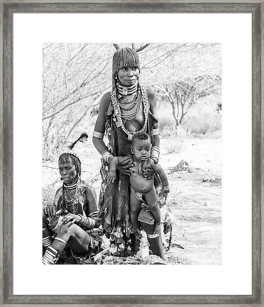 Hammer Women And Child Framed Print