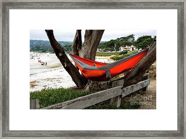Hammock By The Sea Framed Print