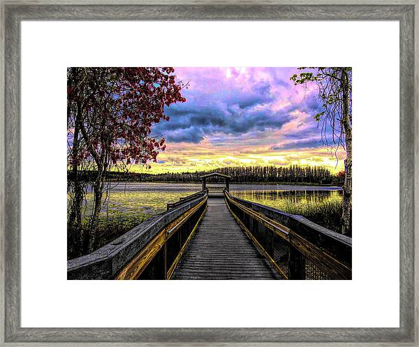 Hammond Lake Framed Print