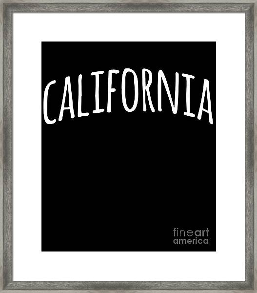 Hand California Framed Print